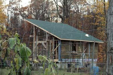 Hybrid timber frame strawbale cabin custom homes ontario for Timber frame straw bale house plans