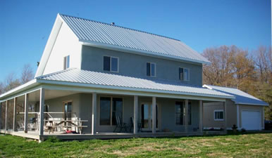 Wolfe island a custom timber frame and strawbale house for Timber frame straw bale house plans